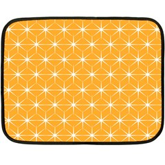 Yellow Stars Light White Orange Double Sided Fleece Blanket (Mini)