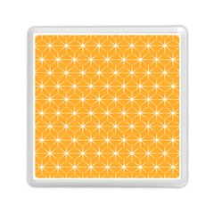 Yellow Stars Light White Orange Memory Card Reader (Square)