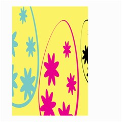 Easter Egg Shapes Large Wave Green Pink Blue Yellow Black Floral Star Small Garden Flag (Two Sides)