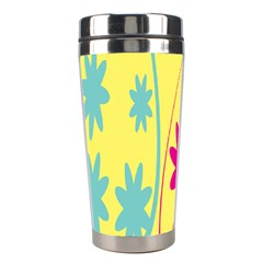 Easter Egg Shapes Large Wave Green Pink Blue Yellow Black Floral Star Stainless Steel Travel Tumblers