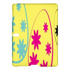 Easter Egg Shapes Large Wave Green Pink Blue Yellow Black Floral Star Samsung Galaxy Tab S (10.5 ) Hardshell Case