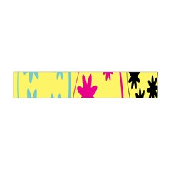 Easter Egg Shapes Large Wave Green Pink Blue Yellow Black Floral Star Flano Scarf (Mini)