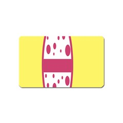 Easter Egg Shapes Large Wave Pink Yellow Circle Dalmation Magnet (name Card)