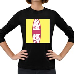 Easter Egg Shapes Large Wave Pink Yellow Circle Dalmation Women s Long Sleeve Dark T-Shirts