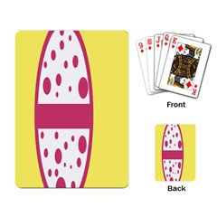 Easter Egg Shapes Large Wave Pink Yellow Circle Dalmation Playing Card