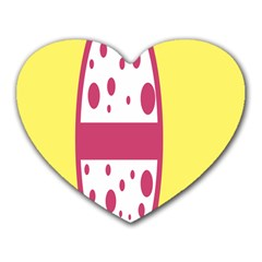 Easter Egg Shapes Large Wave Pink Yellow Circle Dalmation Heart Mousepads