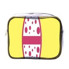 Easter Egg Shapes Large Wave Pink Yellow Circle Dalmation Mini Toiletries Bags