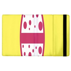 Easter Egg Shapes Large Wave Pink Yellow Circle Dalmation Apple iPad 3/4 Flip Case