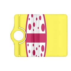 Easter Egg Shapes Large Wave Pink Yellow Circle Dalmation Kindle Fire HD (2013) Flip 360 Case