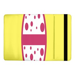 Easter Egg Shapes Large Wave Pink Yellow Circle Dalmation Samsung Galaxy Tab Pro 10.1  Flip Case