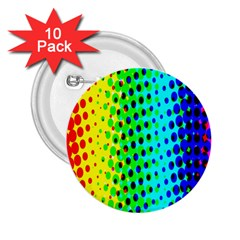 Comic Strip Dots Circle Rainbow 2 25  Buttons (10 Pack)