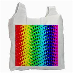 Comic Strip Dots Circle Rainbow Recycle Bag (Two Side)