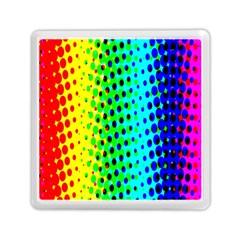 Comic Strip Dots Circle Rainbow Memory Card Reader (Square)