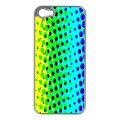 Comic Strip Dots Circle Rainbow Apple iPhone 5 Case (Silver)