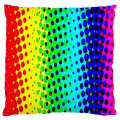 Comic Strip Dots Circle Rainbow Large Flano Cushion Case (one Side)