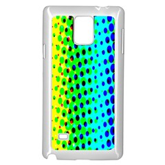 Comic Strip Dots Circle Rainbow Samsung Galaxy Note 4 Case (White)