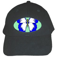 Draw Butterfly Green Blue White Fly Animals Black Cap