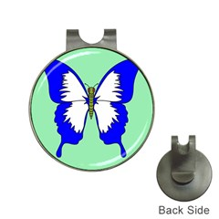 Draw Butterfly Green Blue White Fly Animals Hat Clips With Golf Markers