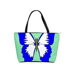 Draw Butterfly Green Blue White Fly Animals Shoulder Handbags
