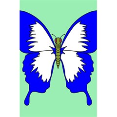 Draw Butterfly Green Blue White Fly Animals 5.5  x 8.5  Notebooks