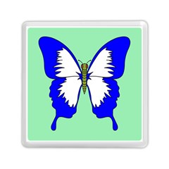 Draw Butterfly Green Blue White Fly Animals Memory Card Reader (Square)