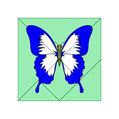 Draw Butterfly Green Blue White Fly Animals Acrylic Tangram Puzzle (4  x 4 )