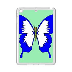 Draw Butterfly Green Blue White Fly Animals iPad Mini 2 Enamel Coated Cases