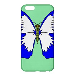 Draw Butterfly Green Blue White Fly Animals Apple Iphone 6 Plus/6s Plus Hardshell Case