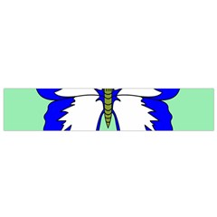 Draw Butterfly Green Blue White Fly Animals Flano Scarf (Small)