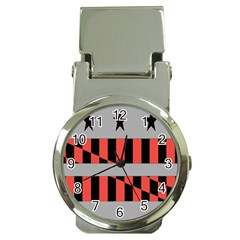 Falg Sign Star Line Black Red Money Clip Watches