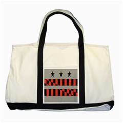 Falg Sign Star Line Black Red Two Tone Tote Bag