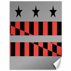 Falg Sign Star Line Black Red Canvas 36  x 48