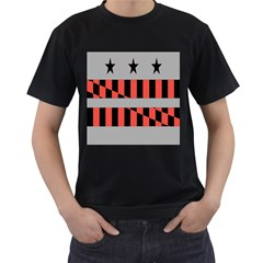 Falg Sign Star Line Black Red Men s T Shirt (black)