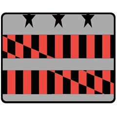 Falg Sign Star Line Black Red Fleece Blanket (medium)