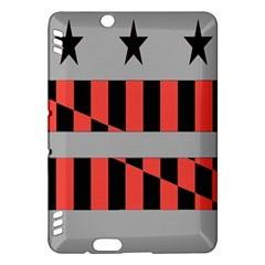 Falg Sign Star Line Black Red Kindle Fire HDX Hardshell Case