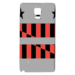 Falg Sign Star Line Black Red Galaxy Note 4 Back Case