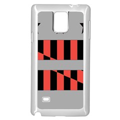 Falg Sign Star Line Black Red Samsung Galaxy Note 4 Case (White)