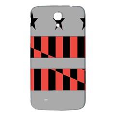 Falg Sign Star Line Black Red Samsung Galaxy Mega I9200 Hardshell Back Case