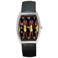 Egyptian Mummy Guard Treasure Monster Barrel Style Metal Watch