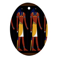Egyptian Mummy Guard Treasure Monster Oval Ornament (two Sides)