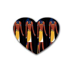 Egyptian Mummy Guard Treasure Monster Heart Coaster (4 Pack)