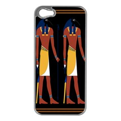 Egyptian Mummy Guard Treasure Monster Apple iPhone 5 Case (Silver)