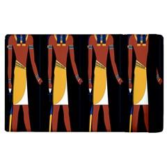 Egyptian Mummy Guard Treasure Monster Apple iPad 3/4 Flip Case
