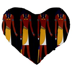 Egyptian Mummy Guard Treasure Monster Large 19  Premium Heart Shape Cushions
