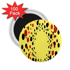 Gradients Dalmations Black Orange Yellow 2 25  Magnets (100 Pack)
