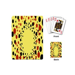 Gradients Dalmations Black Orange Yellow Playing Cards (Mini)