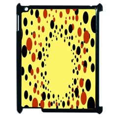 Gradients Dalmations Black Orange Yellow Apple iPad 2 Case (Black)