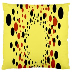 Gradients Dalmations Black Orange Yellow Large Flano Cushion Case (Two Sides)