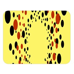 Gradients Dalmations Black Orange Yellow Double Sided Flano Blanket (Large)