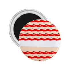 Chevron Wave Triangle Red White Circle Blue 2.25  Magnets